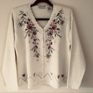 Carolyn Taylor (For By Design)Embroidered Cardigan